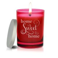 Carved Solutions Gem Collection Unscented Home Sweet Home Soy Wax Candle in Ruby
