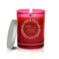 Carved Solutions Gem Collection Unscented Home Sweet Home Wreath Wax Soy Candle in Ruby