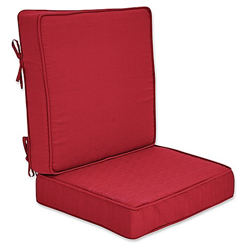 Outdoor forsyth 2 piece deep seat cushion bed bath beyond for Bed bath beyond gel seat cushion