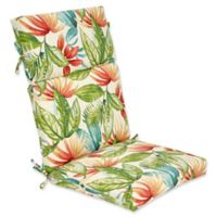 Outdoor High Back Cushion in Shady Palms