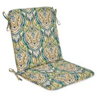 Outdoor Mid Back Cushion in Avaco Blue