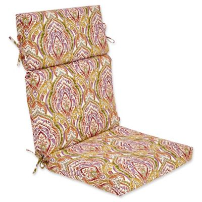 outdoor high back cushion in avaco sunset