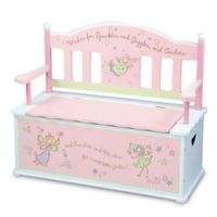 Levels of Discovery Fairy Wishes Bench Seat with Storage in Pink