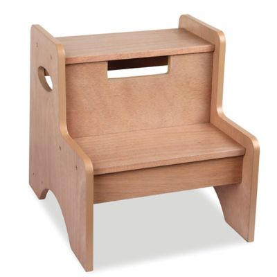 Levels Of Discovery Two-Step Stool in Brown  sc 1 st  Bed Bath u0026 Beyond : wood step stool chair - islam-shia.org