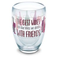 "Tervis® ""Wine with Friends"" 9 oz. Stemless Wine Glass"