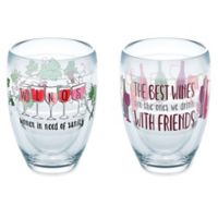 "Tervis® ""Wine with Friends"" 9 oz. Stemless Wine Glasses (Set of 2)"