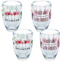 "Tervis® ""Wine with Friends"" 9 oz. Stemless Wine Glasses (Set of 4)"