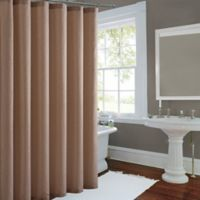 Metallic Luster Shower Curtain In Gold