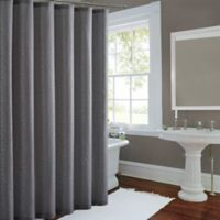 Metallic Luster Shower Curtain In Silver