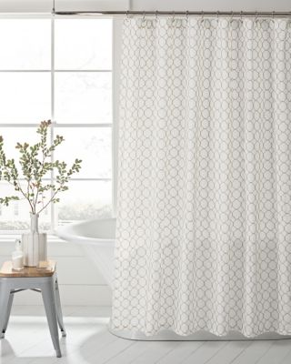 Rope Embroidery Shower Curtain