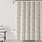 ED Ellen DeGeneres Animal Lines 72-Inch x 72-Inch Shower Curtain