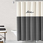 ED Ellen DeGeneres Love 72-Inch x 72-Inch Shower Curtain