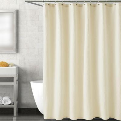 Harmony 54 Inch X 78 Inch Shower Curtain In Ecru