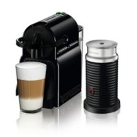 Delonghi Nespresso Inissia Espresso Machine and Aeroccino Milk Frother Bundle in Black