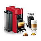 Nespresso® by De'Longhi Evoluo Coffee and Espresso Maker Bundle with Aeroccino Frother in Red