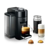 Nespresso® by DeLonghi Evoluo Coffee/Espresso Machine Bundle with Aeroccino Frother in Black
