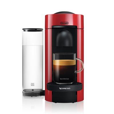 nespresso by delonghi vertuo plus machine in red