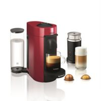 Nespresso® by De'longhi VertuoPlus Coffee and Espresso Maker Bundle and Aeroccino Frother in Red