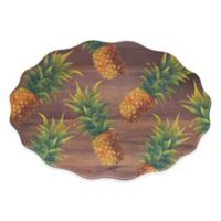 Phocacia Pineapple Oval Tray in Brown