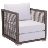 Zuo® Coronado All-Weather Armchair in Cocoa/Light Grey