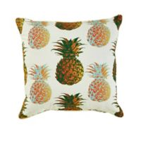 Pineapple Print 20-Inch x 20-Inch Square Outdoor Throw Pillow