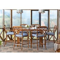 Trisha Yearwood Home Collection 7-Piece Outdoor High Dining Set in Denim Blue