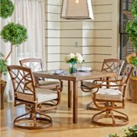 Trisha Yearwood Home Outdoor 5-Piece Dining Set in Brown