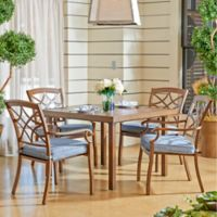 Trisha Yearwood Home Collection Outdoor 5-Piece Dining Set in Denim Demo