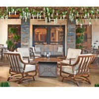 Trisha Yearwood Home Collection 5-Piece Fire Pit Chat Set in Beige