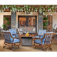 Trisha Yearwood Home Collection 5-Piece Fire Pit Chat Set in Blue