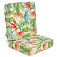 Outdoor 2-Piece Deep Seat Cushion in Shady Palms