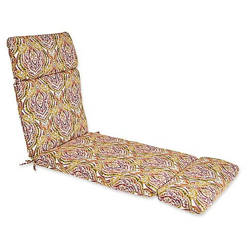 Outdoor Chaise Lounge Cushion In Avaco Sunset Bed Bath