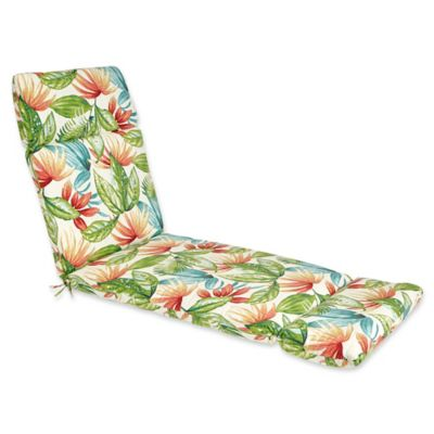 Outdoor Chaise Lounge Cushion in Shady Palms  sc 1 st  Bed Bath u0026 Beyond : orange chaise lounge cushions - Sectionals, Sofas & Couches