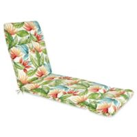 Outdoor Chaise Lounge Cushion in Shady Palms