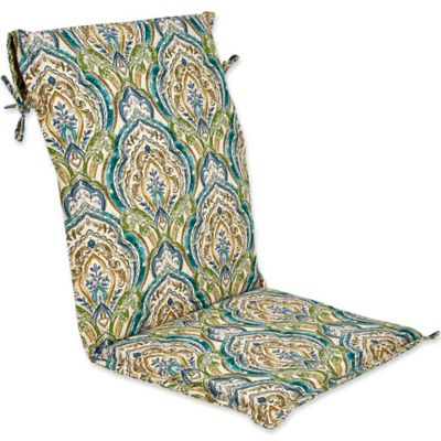 Outdoor Sling Back Chair Cushion In Avaco Blue