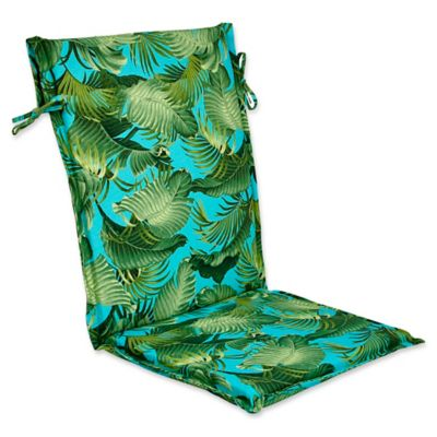 Outdoor Sling Back Chair Cushion In Back Bay Ocean