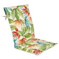 Outdoor Sling Back Chair Cushion In Shady Palms