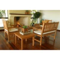 Amazonia Milano 5-Piece Eucalyptus Wood Outdoor Patio Seating Set