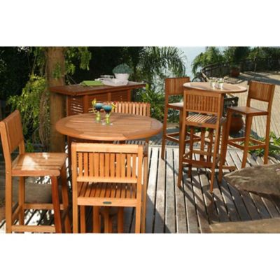 Amazonia Ibiza 4 Piece Patio Bar Set
