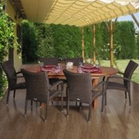 Amazonia Lemans 7-Piece Extendable Oval Patio Dining Set