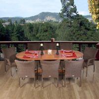 Amazonia Rennaisance 9-Piece Oval Extendable Patio Dining Set
