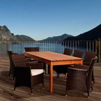 Amazonia Myles 9-Piece Outdoor Dining Set