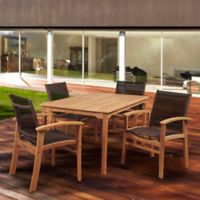 Amazonia New Pacific 5-Piece Outdoor Dining Set in Brown