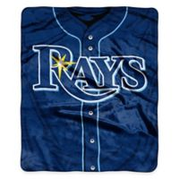 MLB Tampa Bay Rays Jersey Raschel Throw Blanket