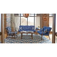 Trisha Yearwood Demo 5-Piece Outdoor Conversation Set in Blue