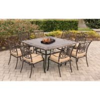 Hanover Traditions 9-Piece Square Patio Set