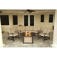 Hanover Traditions 4-Piece Firepit Chat Set in Tan