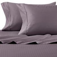 Wamsutta® 625-Thread Count PimaCott® Herringbone Stripe California King Sheet Set in Taupe