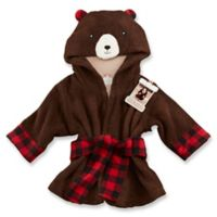 Baby Aspen Newborn-9M Beary Bundled Hooded Robe in Brown/Red