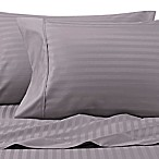 Wamsutta® 625-Thread Count PimaCott® Stripe Queen Sheet Set in Charcoal